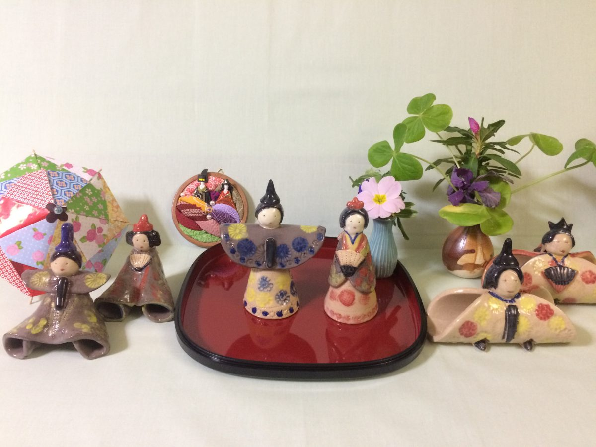 Hinamatsuri (The Festival of Dolls on the Gairl's day )| Pottery Hinamatsuri Dolls